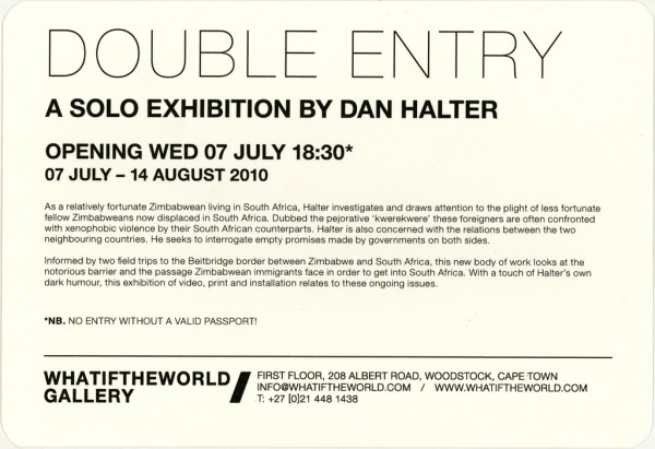 Double Entry Flyer Back