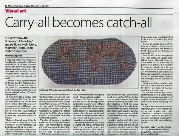 Andrew Lamprecht 'Carry-all becomes catch-all' Mail and Guardian, 16 March 2012 p10