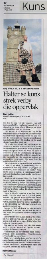 Melvyn Minnaar Die Burger 7 April 2012 pg12