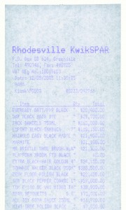 Monochrome Till Receipt (Black) 2005