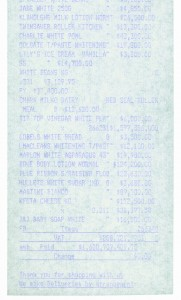 Monochrome Till Receipt (White) 2005