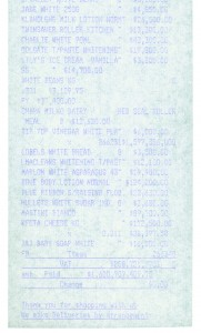 Monochrome Till Receipt (white)