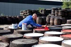 Painting the barrels