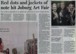 Gwen Gill 'Red dots and jackets of note hit Joburg Art Fair'
