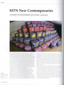 Matthew Partridge 'MTN New Contemporaries' Review