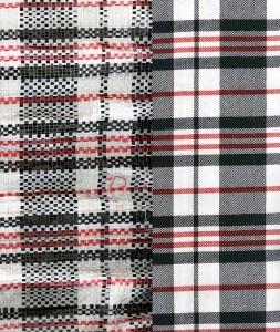 tartan and bag combination