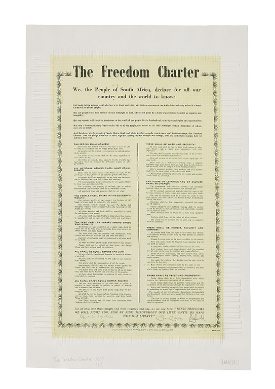 The Freedom Charter 2013