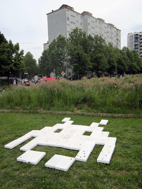 Space Invader test park 2014 Turin