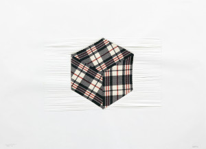 isometric, cube, voxel, pixel art, Zimbabwe, refugee, tartan, bag
