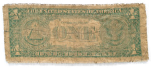 hand-woven dirty US dollar from Zimbabwe